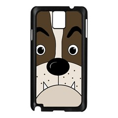 Bulldog face Samsung Galaxy Note 3 N9005 Case (Black)
