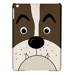 Bulldog face iPad Air Hardshell Cases
