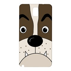 Bulldog face Samsung Galaxy Note 3 N9005 Hardshell Back Case