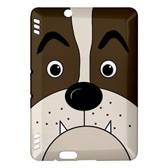 Bulldog face Kindle Fire HDX Hardshell Case