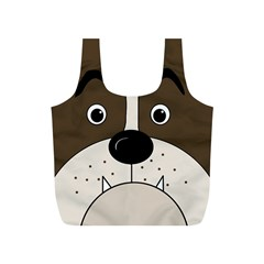 Bulldog face Full Print Recycle Bags (S)