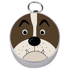 Bulldog face Silver Compasses