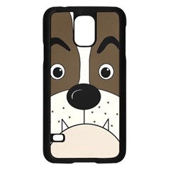 Bulldog face Samsung Galaxy S5 Case (Black)