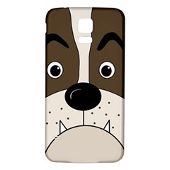 Bulldog face Samsung Galaxy S5 Back Case (White)