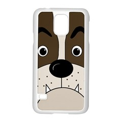 Bulldog face Samsung Galaxy S5 Case (White)