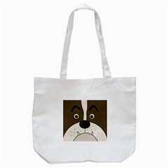 Bulldog face Tote Bag (White)