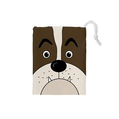 Bulldog face Drawstring Pouches (Small)