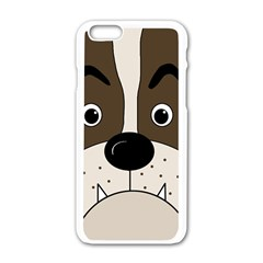 Bulldog face Apple iPhone 6/6S White Enamel Case
