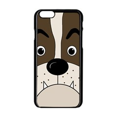 Bulldog face Apple iPhone 6/6S Black Enamel Case