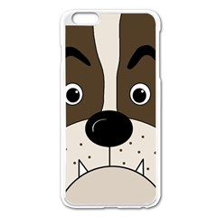 Bulldog face Apple iPhone 6 Plus/6S Plus Enamel White Case