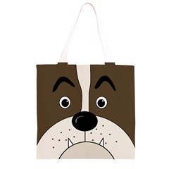 Bulldog face Grocery Light Tote Bag
