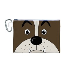 Bulldog face Canvas Cosmetic Bag (M)