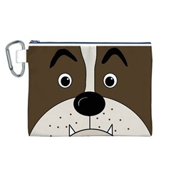 Bulldog face Canvas Cosmetic Bag (L)