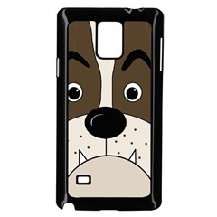 Bulldog face Samsung Galaxy Note 4 Case (Black)