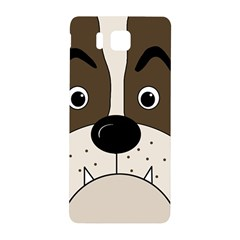 Bulldog face Samsung Galaxy Alpha Hardshell Back Case