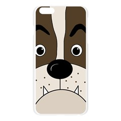 Bulldog face Apple Seamless iPhone 6 Plus/6S Plus Case (Transparent)