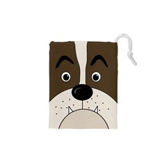 Bulldog face Drawstring Pouches (XS)