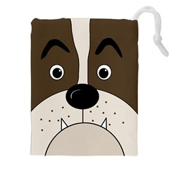 Bulldog face Drawstring Pouches (XXL)
