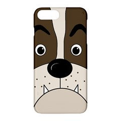 Bulldog face Apple iPhone 7 Plus Hardshell Case