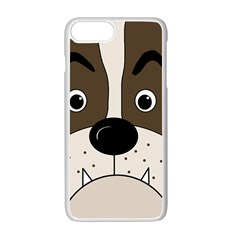 Bulldog face Apple iPhone 7 Plus White Seamless Case