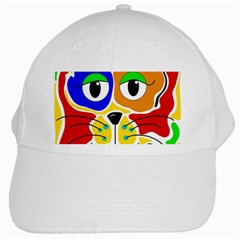 Colorful cat White Cap