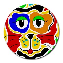 Colorful cat Round Mousepads