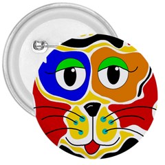 Colorful cat 3  Buttons