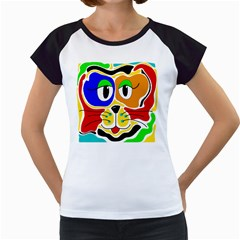 Colorful cat Women s Cap Sleeve T
