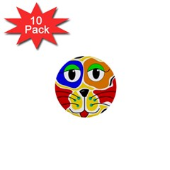 Colorful cat 1  Mini Buttons (10 pack)