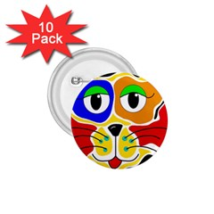 Colorful cat 1.75  Buttons (10 pack)