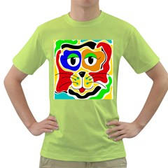 Colorful cat Green T-Shirt
