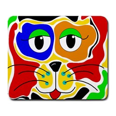 Colorful cat Large Mousepads