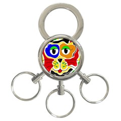 Colorful cat 3-Ring Key Chains
