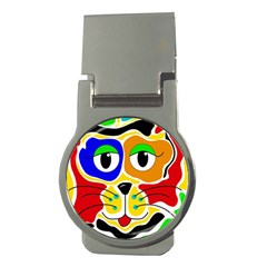 Colorful cat Money Clips (Round)