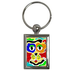 Colorful cat Key Chains (Rectangle)