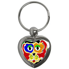 Colorful cat Key Chains (Heart)