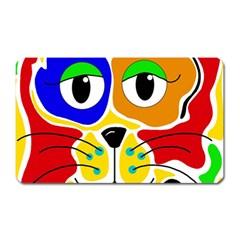 Colorful cat Magnet (Rectangular)