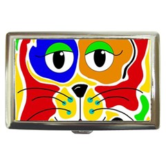 Colorful cat Cigarette Money Cases
