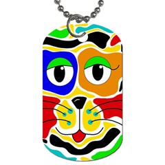 Colorful cat Dog Tag (Two Sides)
