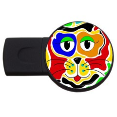 Colorful cat USB Flash Drive Round (1 GB)