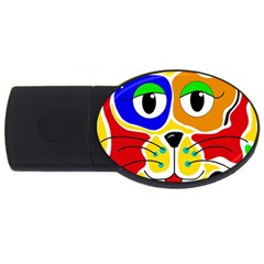 Colorful cat USB Flash Drive Oval (1 GB)