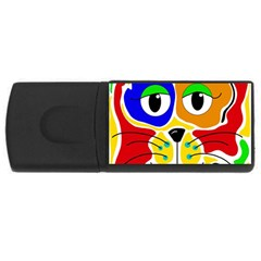 Colorful cat USB Flash Drive Rectangular (2 GB)