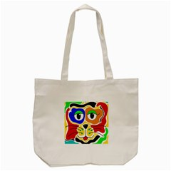 Colorful cat Tote Bag (Cream)