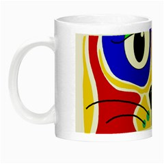 Colorful cat Night Luminous Mugs