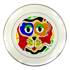 Colorful cat Porcelain Plates