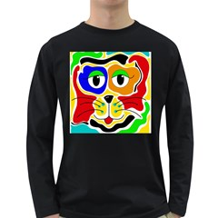 Colorful cat Long Sleeve Dark T-Shirts