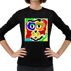 Colorful cat Women s Long Sleeve Dark T-Shirts