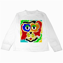 Colorful cat Kids Long Sleeve T-Shirts