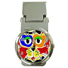 Colorful cat Money Clip Watches