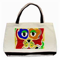 Colorful cat Basic Tote Bag